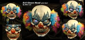 Evil Clown Head with Hair by Uratz-Studios
