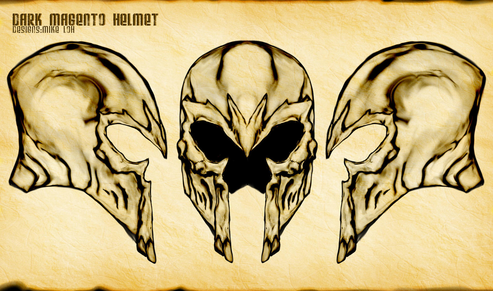 Dark Magneto Death Helmet By Uratz Studios