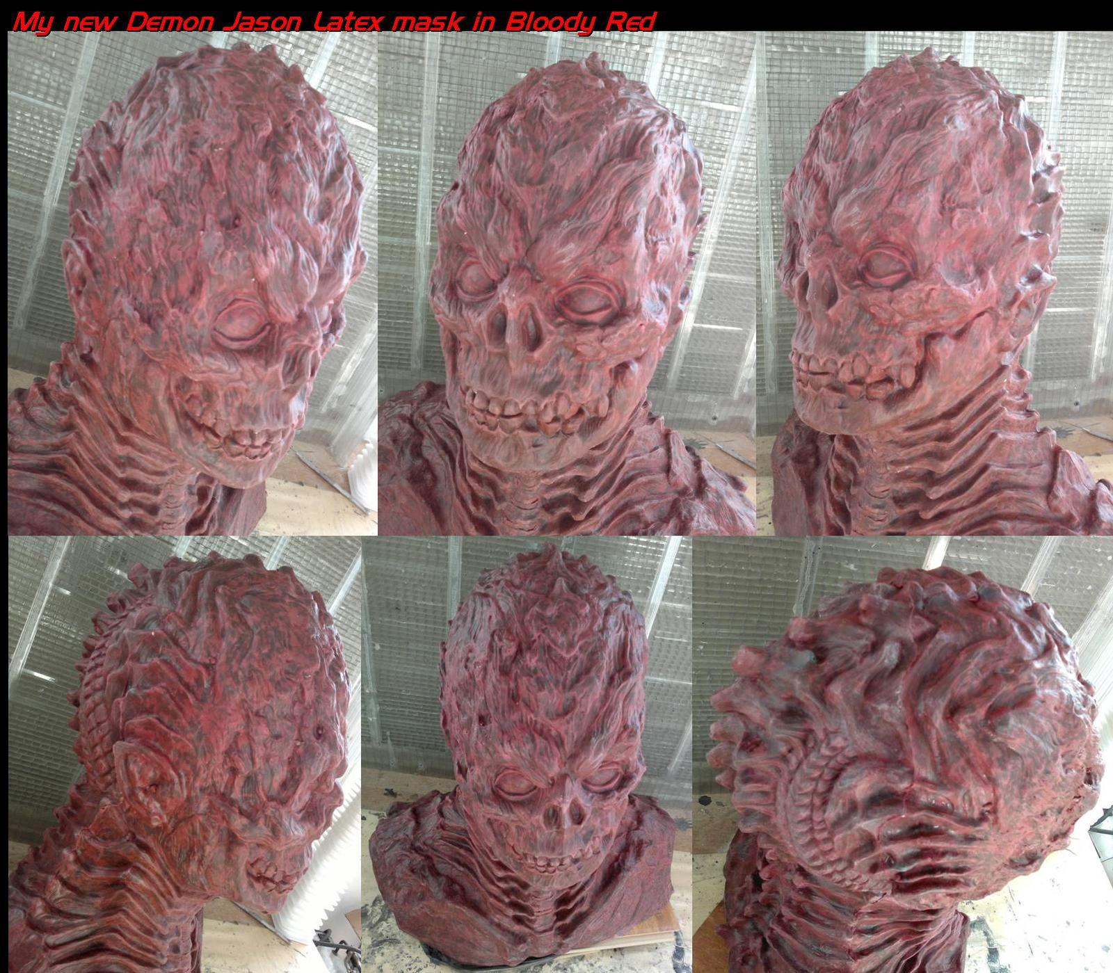 Demon blood jason latex hood by uratz studios on deviantart - Uratz studios ...