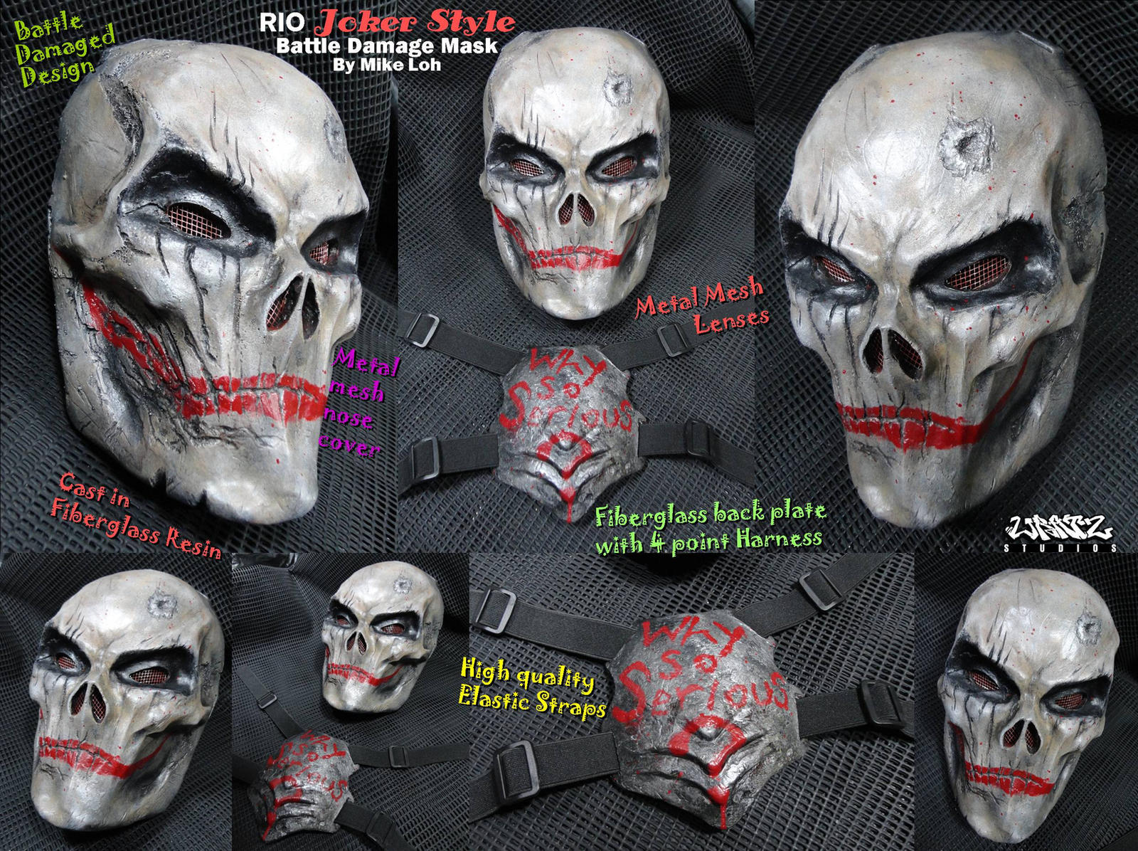 Rio Joker Mask Details by Uratz-Studios