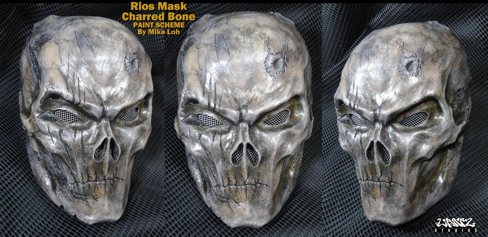 Rios mask in charred bone by uratz studios on deviantart - Uratz studios ...