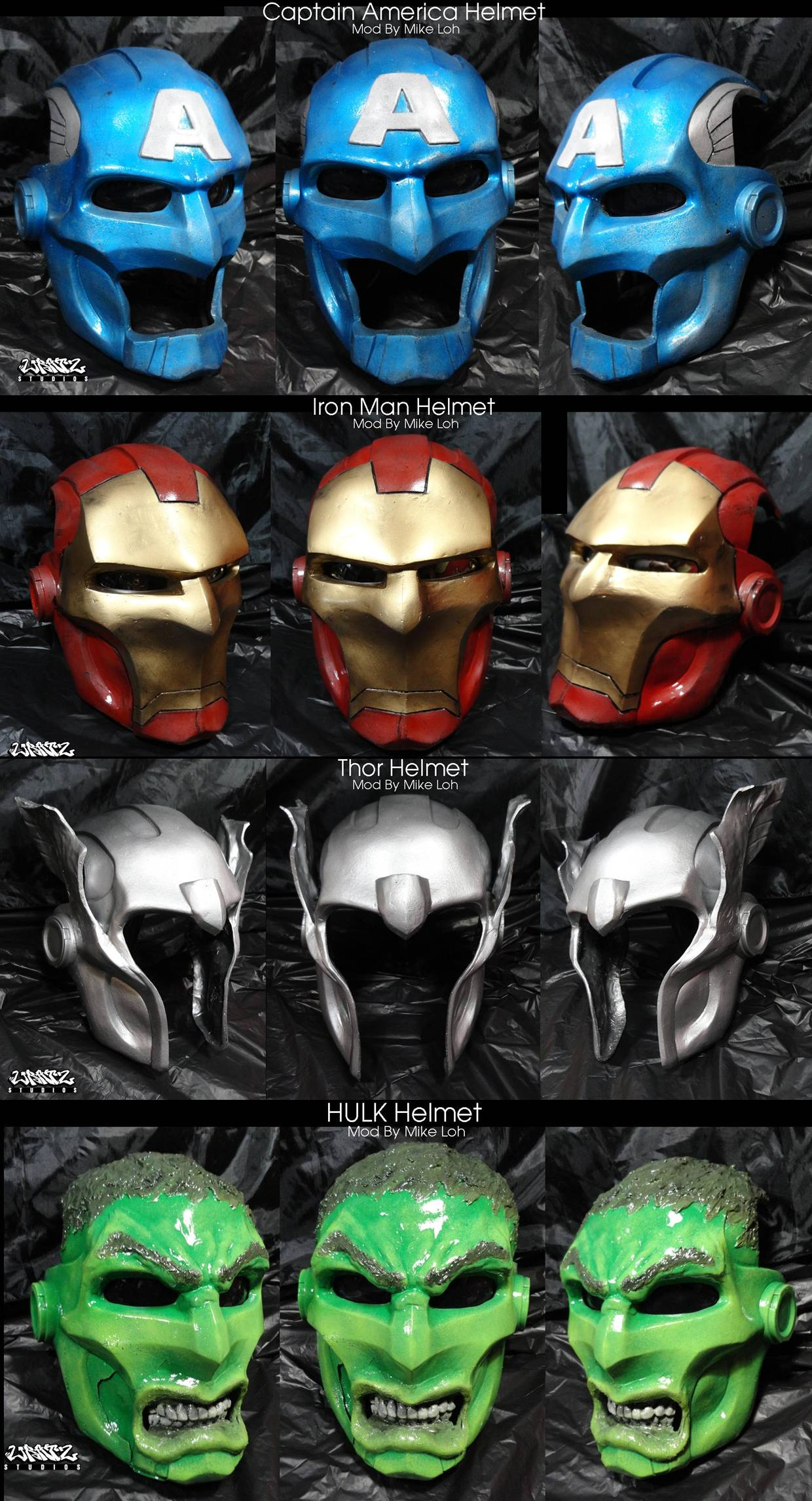Avengers Helmets Custom Mods by Uratz-Studios