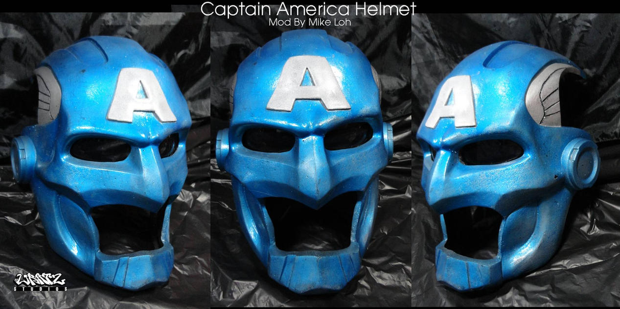 Captain America Helmet by Uratz-Studios