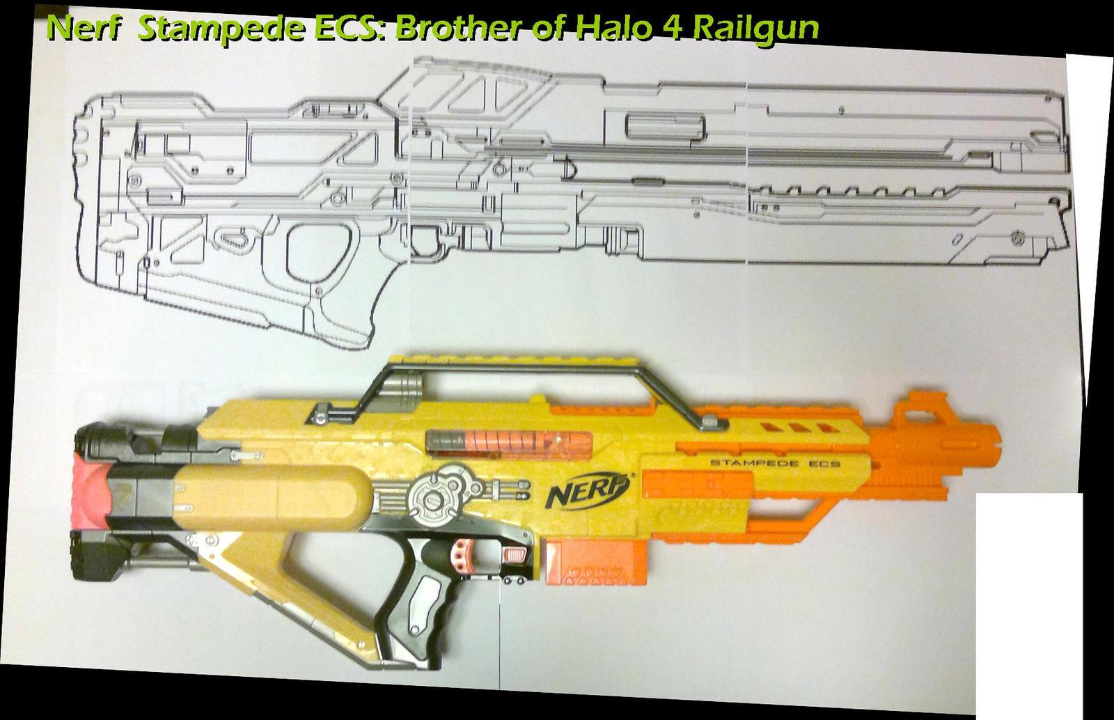 Nerf Stampede Halo 4 Rail Gun by Uratz-Studios