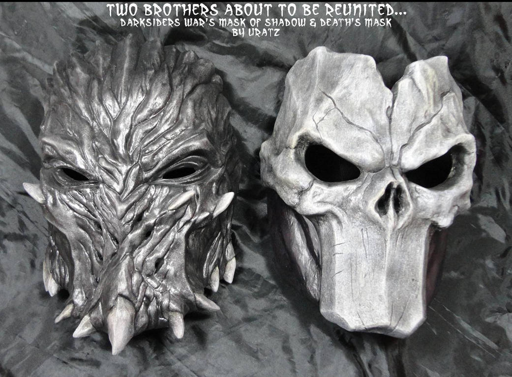 darksiders death's mask + war mask of shadowsuratz-studios on