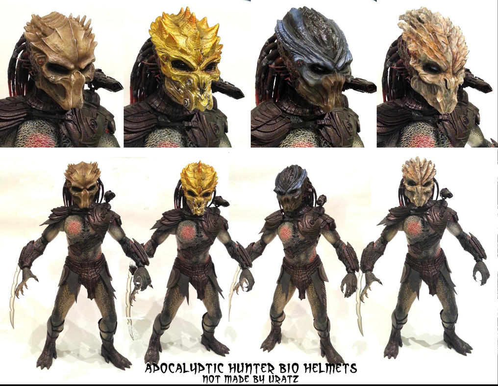 Apocalyripped off predator mini bio helmets by uratz - Uratz studios ...