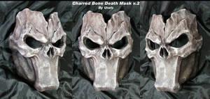 Death Mask v2 Charred Bone