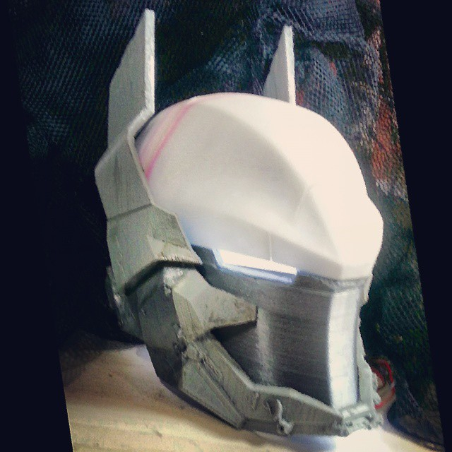 arkham knight helmet foam template vast