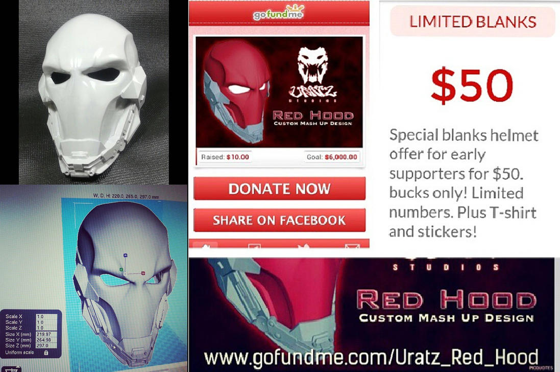 Red Hood Early Supporters 50 Bucks by Uratz-Studios