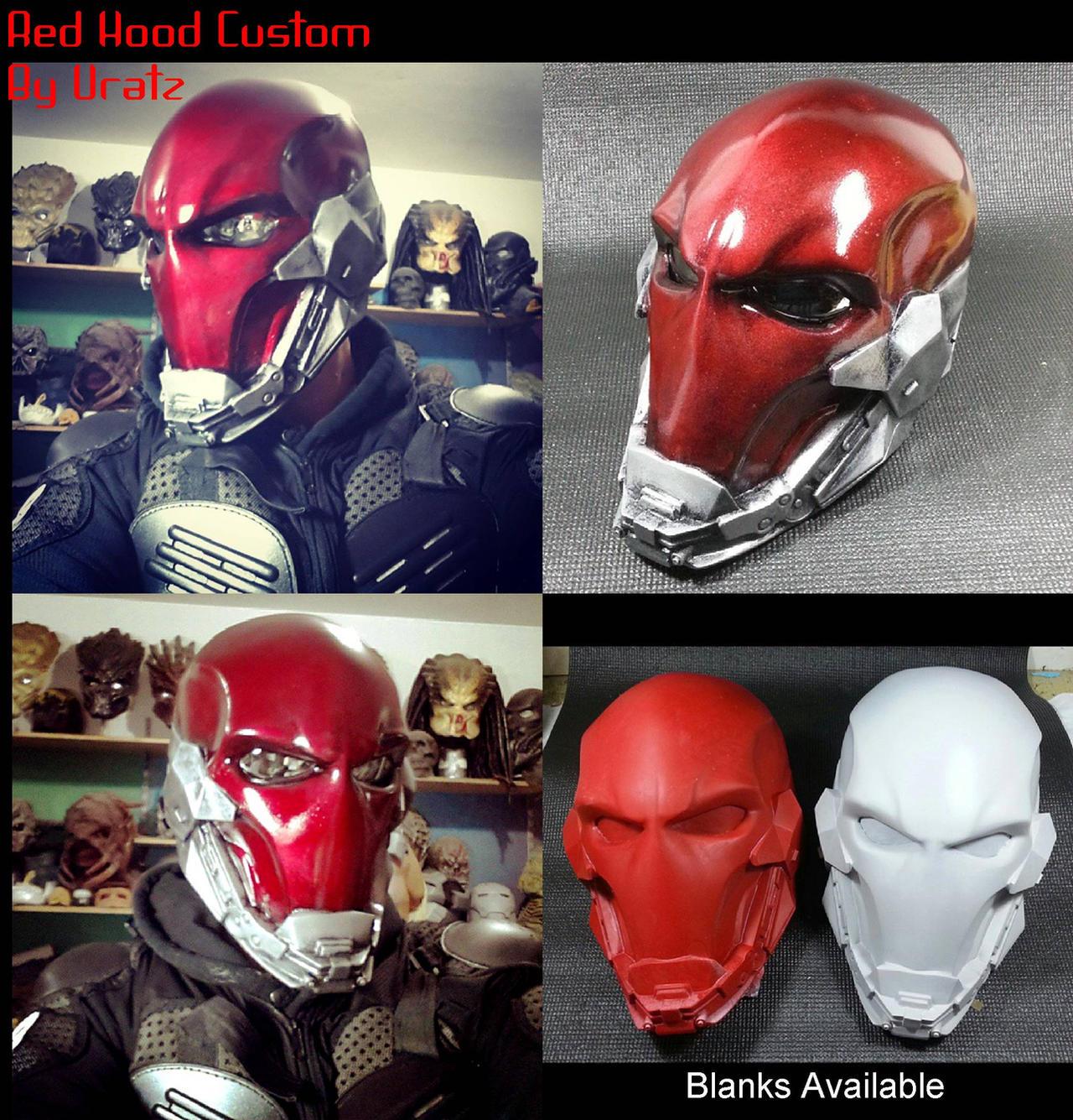 Red hood helmet custom by uratz studios on deviantart - Uratz studios ...