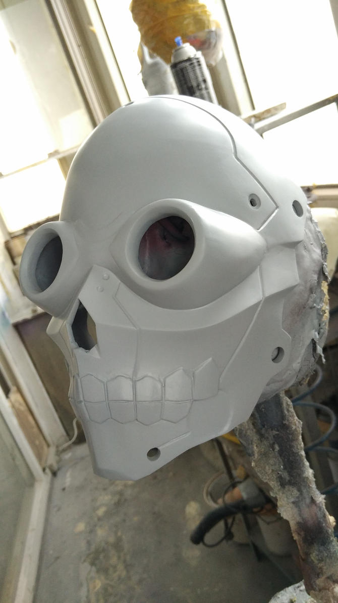 Deathgun mask wip by uratz studios on deviantart - Uratz studios ...