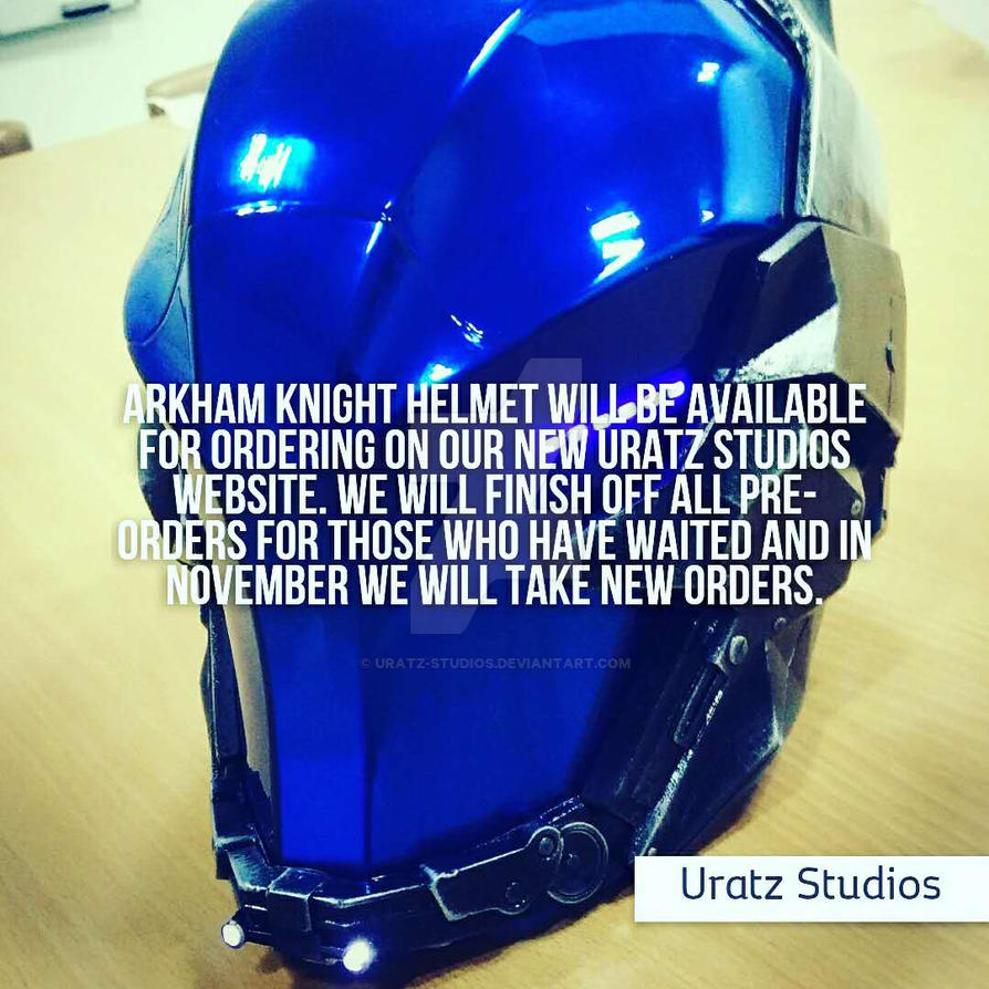 Arkham knight helmet annoucement by uratz studios on - Uratz studios ...