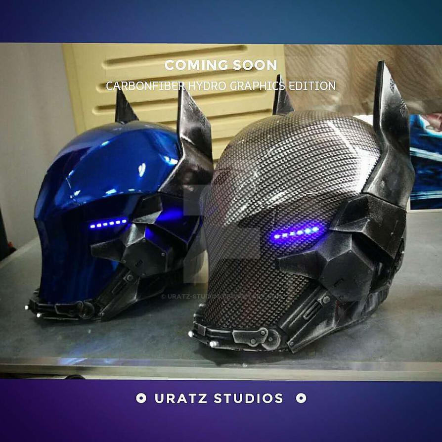 Carbonfiber Arkham Knight Helmet coming soon. by Uratz-Studios