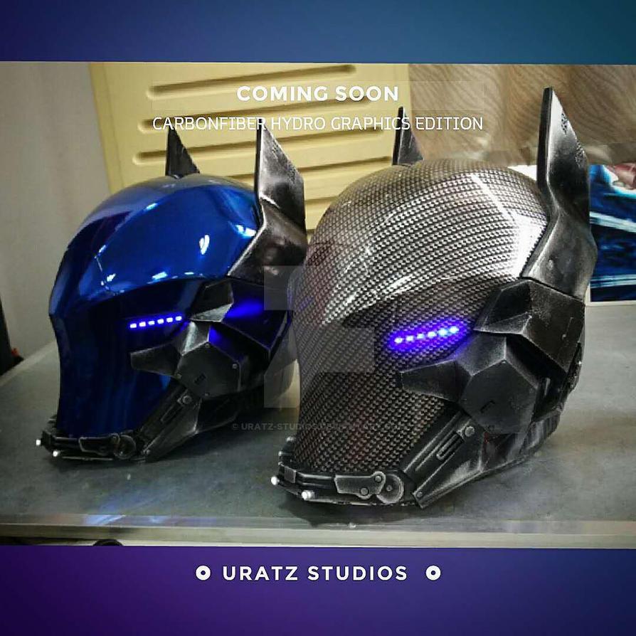 Carbonfiber arkham knight helmet coming soon by uratz - Uratz studios ...