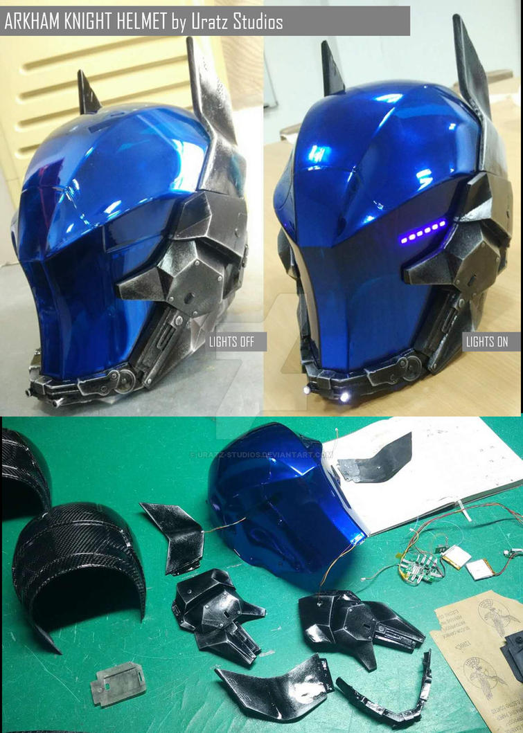 Arkham Knight Helmet Done! by Uratz-Studios