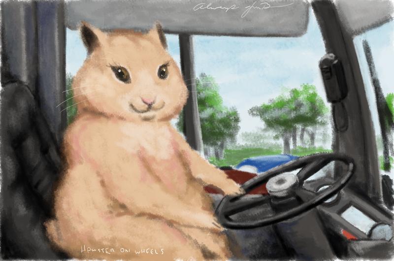 Hamster On Wheels by alwaysJMB