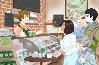 Marisa at the Cafe