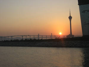 A Beautiful Sunset In Macao