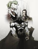 Batman, Joker, Two-Face by antmanx68