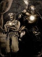 Steampunk Iron Man by antmanx68