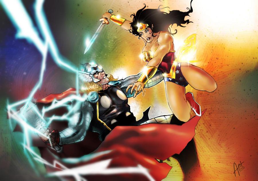 thor vs wonder woman by antmanx68 on deviantart