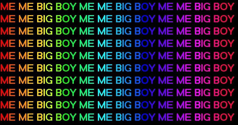me me big boy by Quetzal-Yveltal