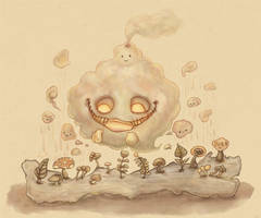 little smoking monster by 123lulala
