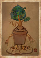 pot plant monster by 123lulala