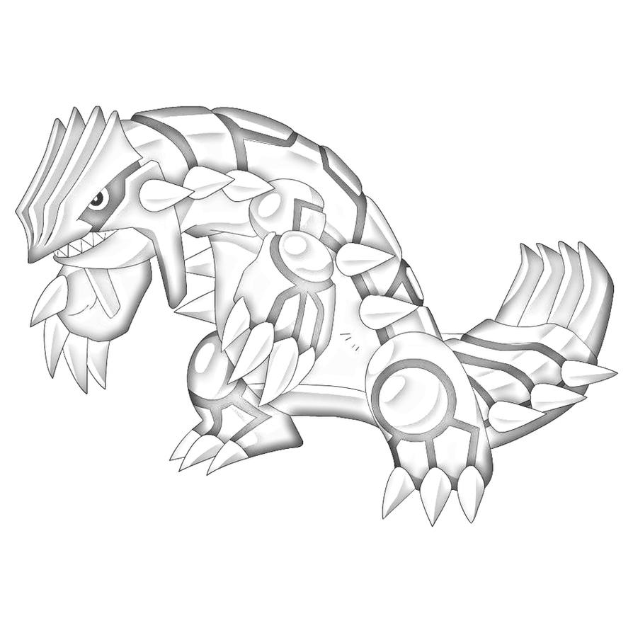 Coloring Pages Pokemon Groudon Sketch By Pokemongamer On Deviantart