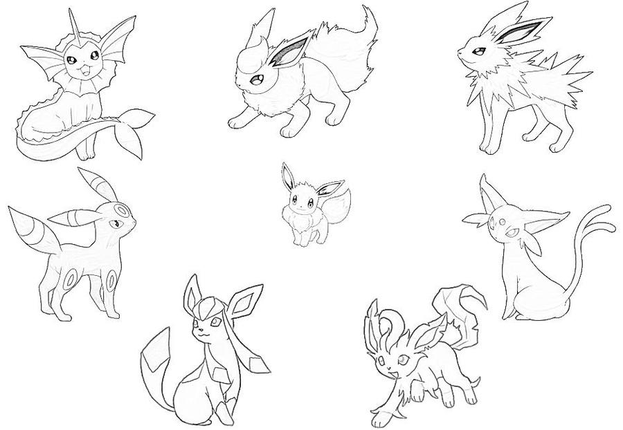 eeveelution coloring pages - photo #5