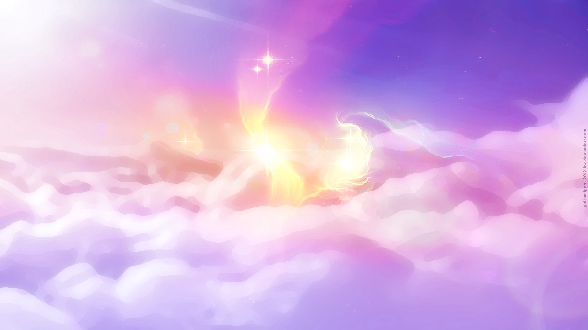 Clouds Shine Sunrise Wallpaper 1920x1080 HD By Yattamigeru
