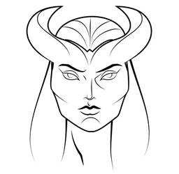 Tiefling Female Head