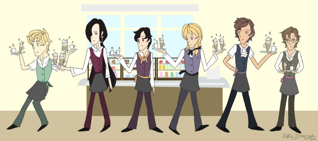 [FANART] Vicboys: Coffee Shop AU by Katz-Drawing