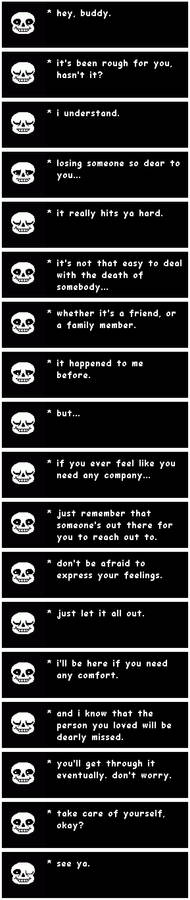 Sans talks about coping with death