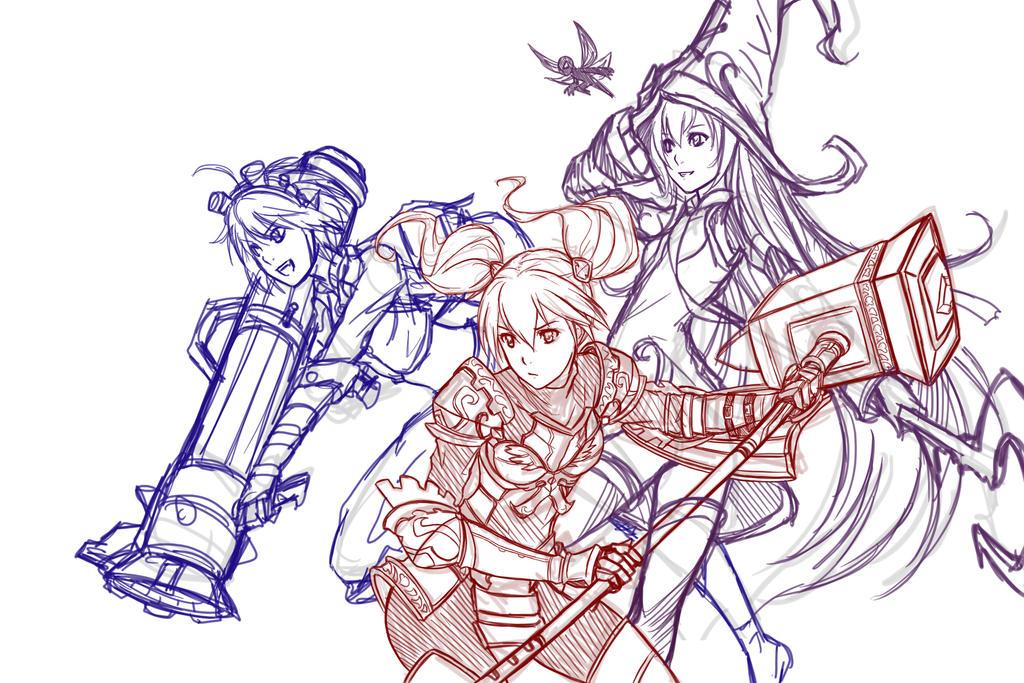 League of Legends - Yordle girls WIP by El-Seluvia