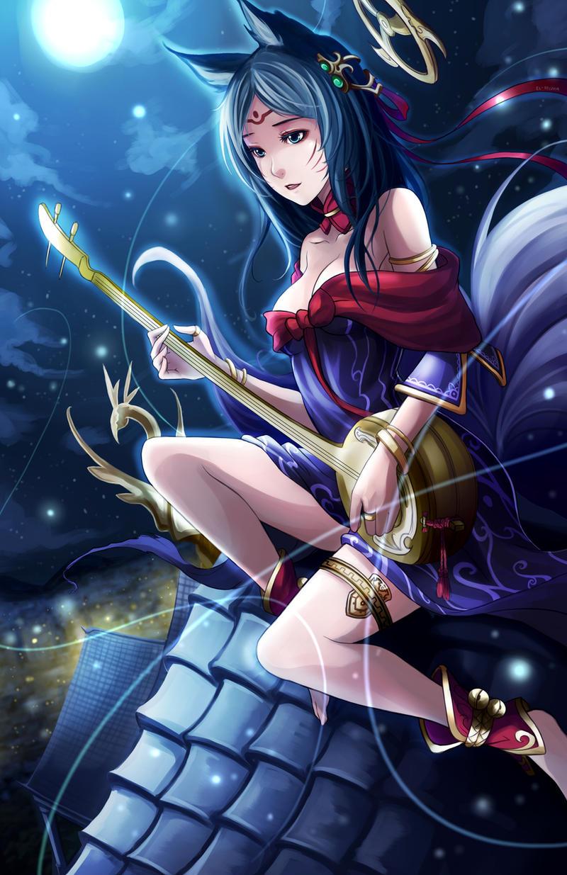 League of Legends - Moonlight Ahri by El-Seluvia