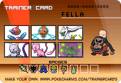 Fella's trainer card by pokemontrainerjay