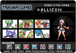 Allison's trainer card, fixed by pokemontrainerjay