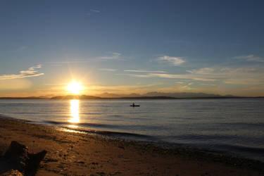 Sunset at Alki Beach, Seattle WA by pokemontrainerjay