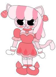 Strawberry Milk Kitty Cat OC Gift