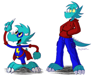 Toonscale and Zeke (Commission) by VictoryStar527