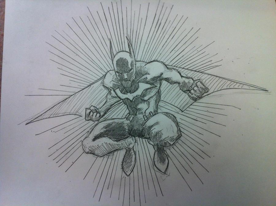 Batman Beyond Sketch In Class By TRANFDQ On DeviantArt