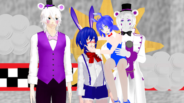 Mmd Funtime Freddy: Funtime Freddy's And The Puppets Bonnie [FNAFSL] By