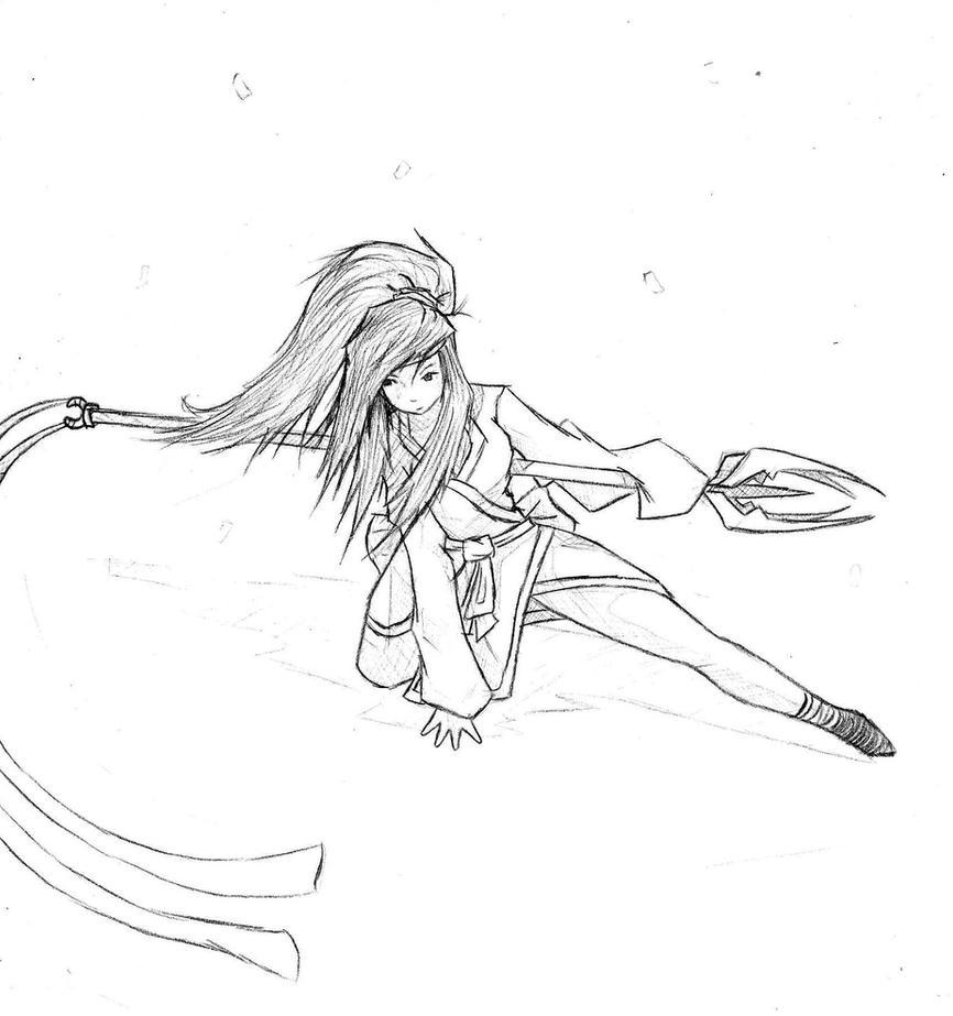 samurai coloring pages - female warrior samurai by timtam13 on deviantart