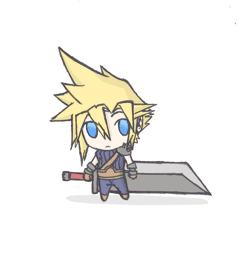 Cloud Chibi by TimTam13