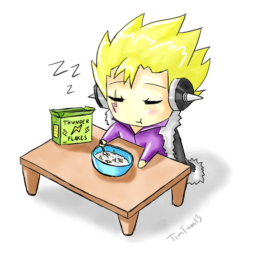 Chibi Laxus-Breakfast Time by TimTam13 on DeviantArt
