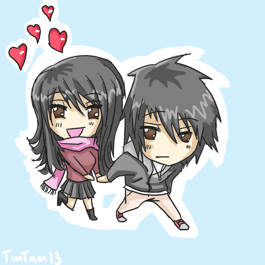 Chibi Couple by TimTam13 on DeviantArt