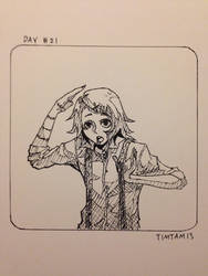 Inktober day #21: Juuzo Suzuya by TimTam13