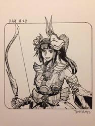 Inktober day #22: Mizutsune Gunner armour by TimTam13