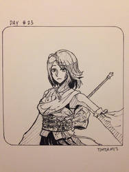 Inktober day #23: Yuna by TimTam13